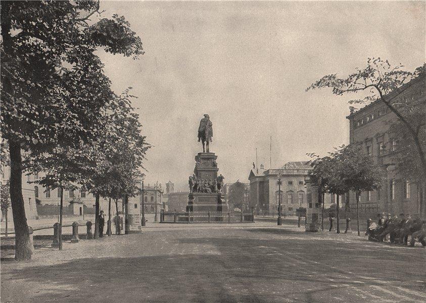 Associate Product BERLIN. Unter den Linden. Germany 1895 old antique vintage print picture
