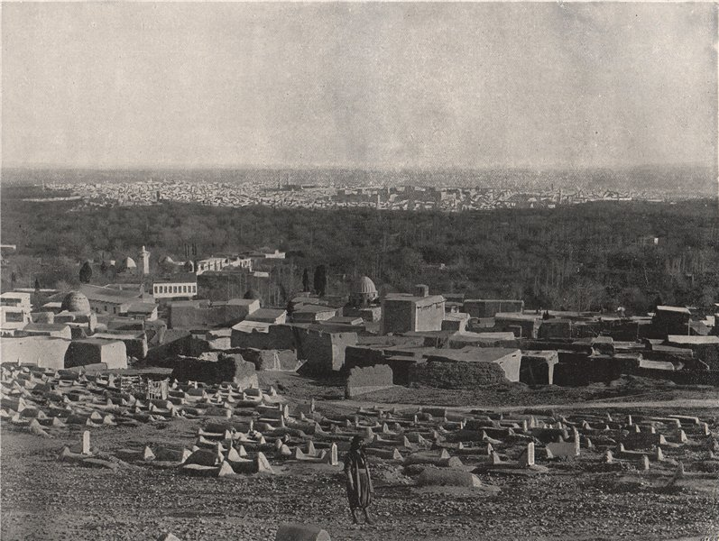 Associate Product DAMASCUS. Panorama of the city, from Sulhieh. Syria 1895 old antique print