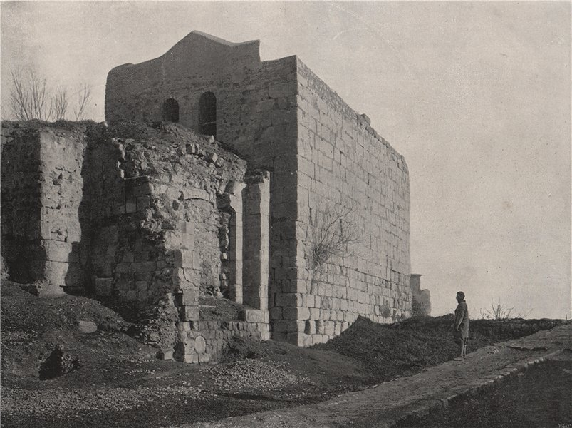 Associate Product DAMASCUS. Tower from which St. Paul descended in a basket. Syria 1895 print