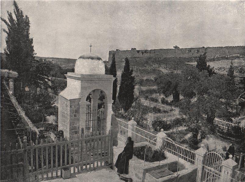 Associate Product JERUSALEM. The Garden of Gethsemane. Jerusalem 1895 old antique print picture