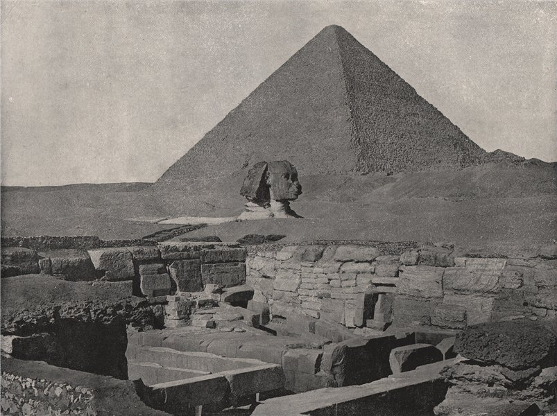 Associate Product GIZA. The Great Pyramid, The Sphinx, and the Temple of Chafea. Egypt 1895
