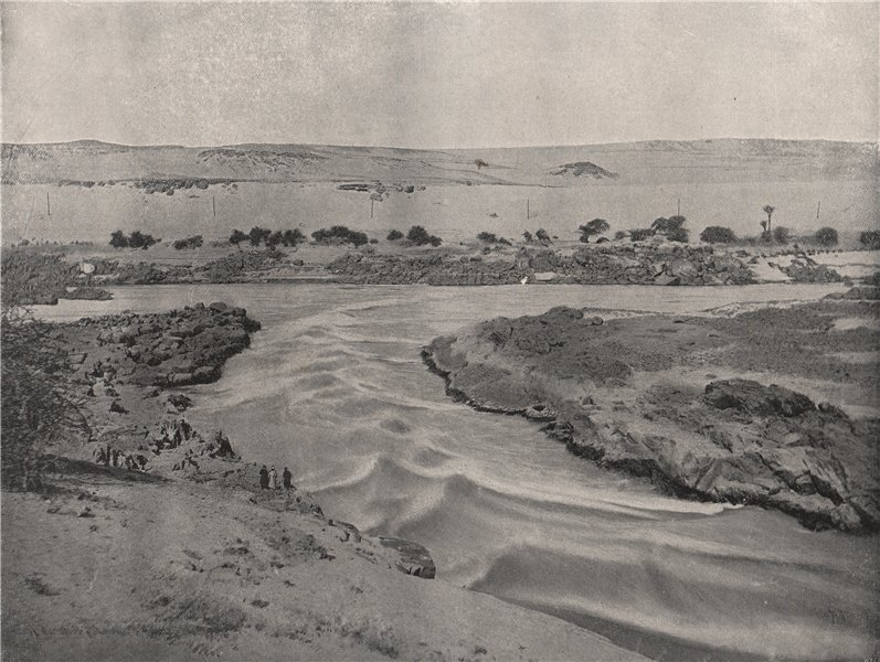 Associate Product ASWAN. The First Cataract of the Nile. Egypt 1895 old antique print picture