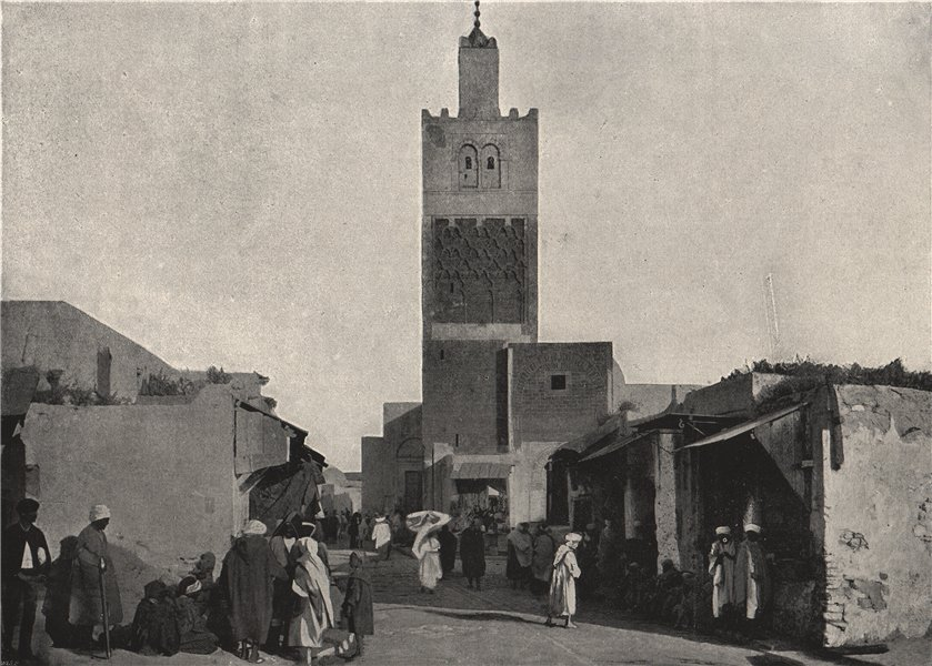 Associate Product TUNIS. A Street. Tunisia 1895 old antique vintage print picture