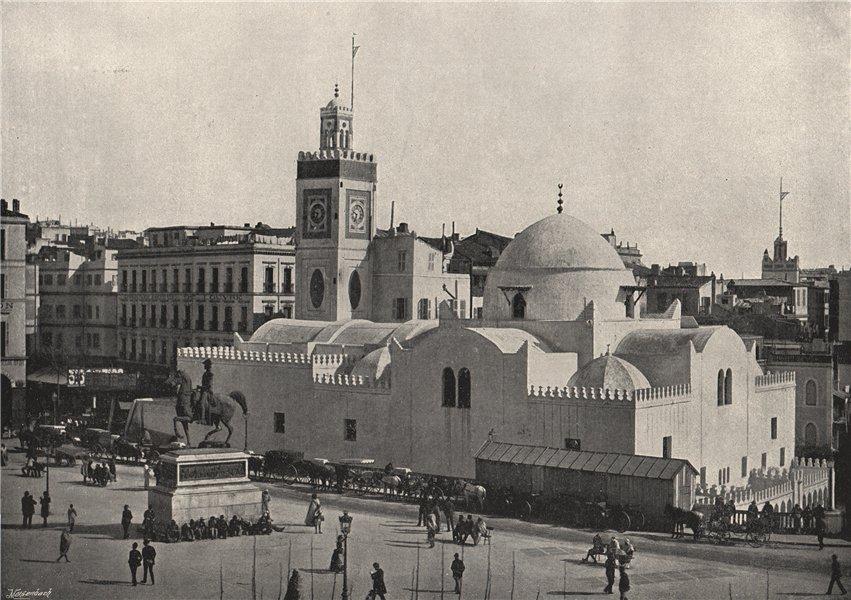 ALGIERS. The mosque in the Place du Gouvernement. Algeria 1895 old print
