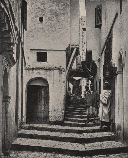 Associate Product ALGIERS. The Rue de la Kasbah. Algeria 1895 old antique vintage print picture