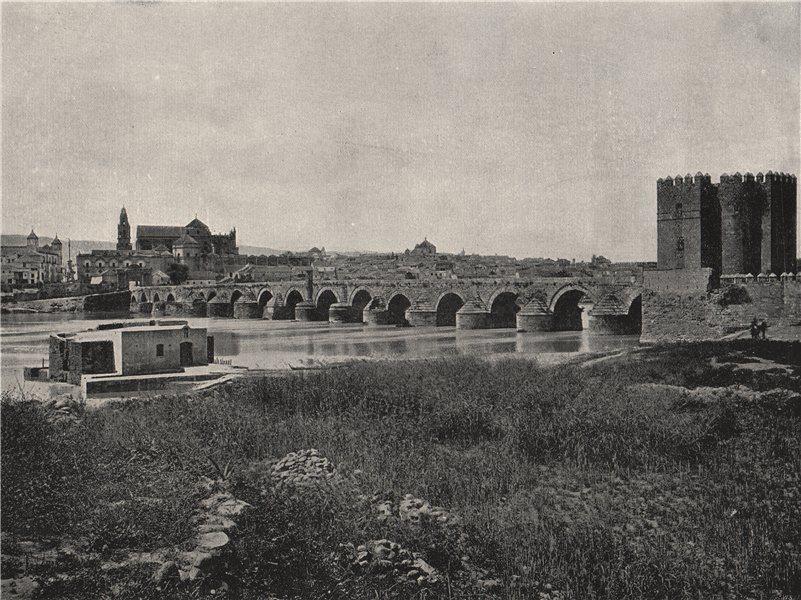 Associate Product CORDOBA. The city, showing the old Bridge. Spain 1895 antique print