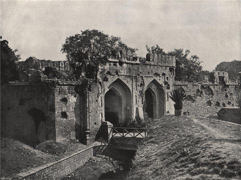 DELHI. The Kashmir Gate. India 1895 old antique vintage print picture