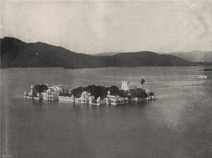 Associate Product UDAIPUR. The Winter Palace. Now the Lake Palace Hotel. India 1895 old print