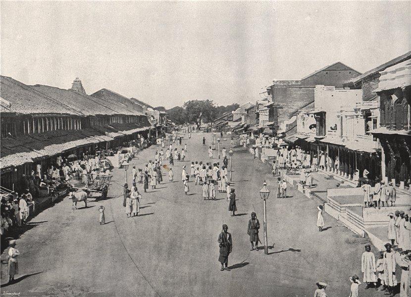 Associate Product CALCUTTA (KOLKATA) . Bazaar scene in native quarter. India 1895 old print