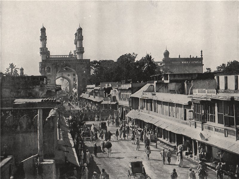 Associate Product HYDERABAD. The chief street, showing the Char Minar. India 1895 old print