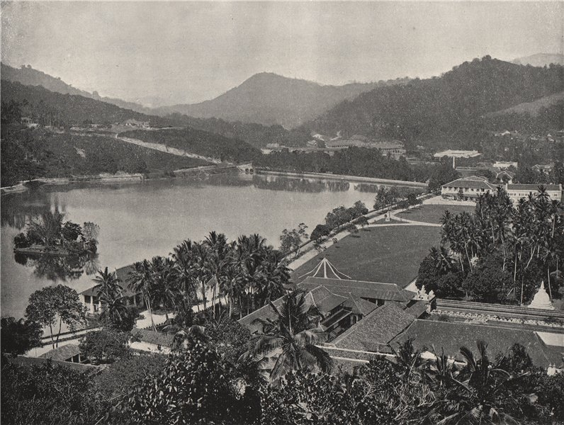 Associate Product KANDY. View from Lady Horton's Walk. Sri Lanka 1895 old antique print picture