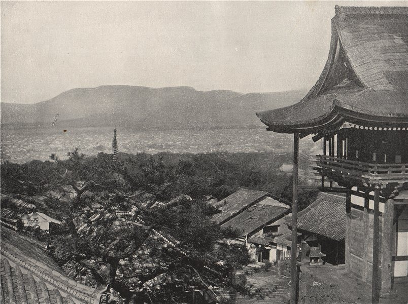 Associate Product KYOTO. View from the hills. Japan 1895 old antique vintage print picture