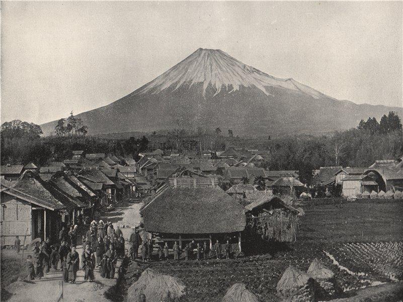 Associate Product FUJIYAMA. The Sacred Mountain, from Jedzumi village. Japan 1895 old print