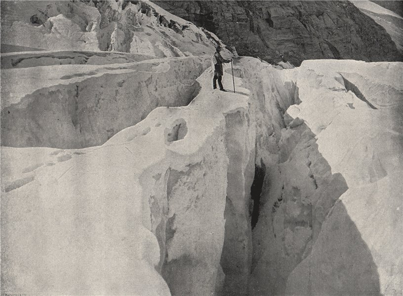 Associate Product THE ROCKIES. Asulkan Glacier, Hermit Range. British Columbia 1895 old print