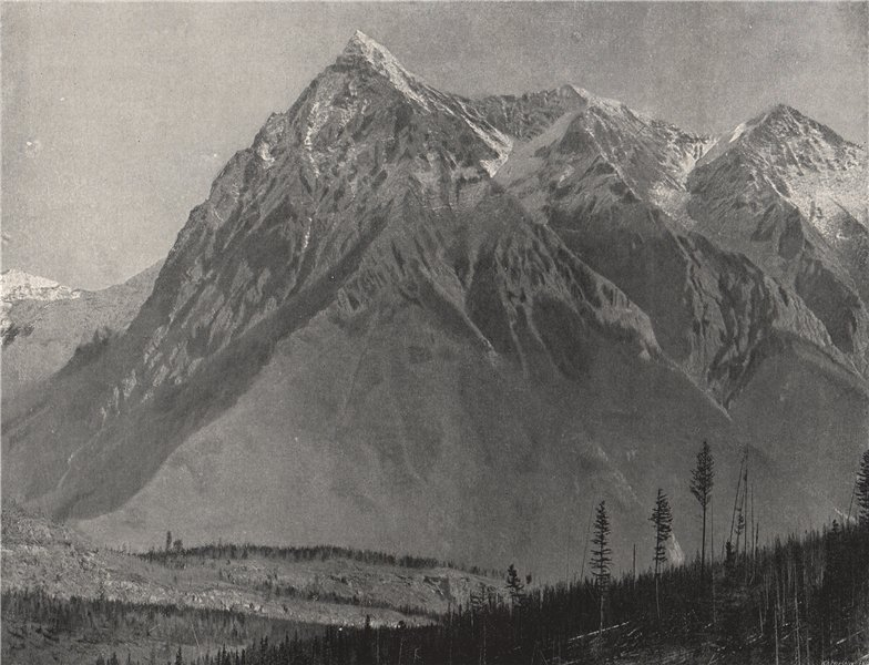 THE ROCKIES. The Chancellor, Leanchoil. British Columbia 1895 old print