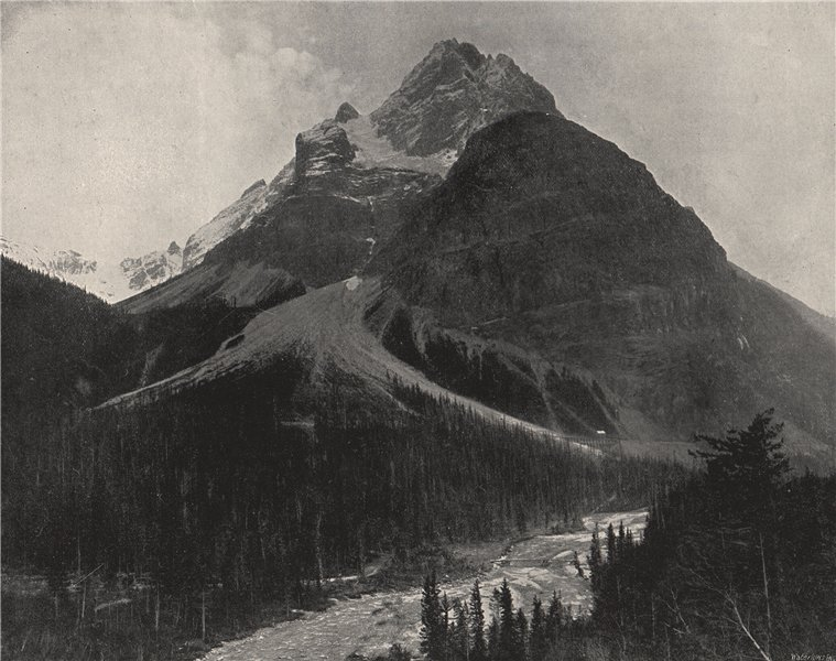 Associate Product THE ROCKIES. Mount Stephen. British Columbia 1895 old antique print picture