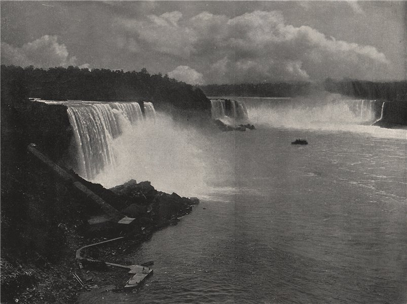 Associate Product NIAGARA. General view of the falls. North America 1895 old antique print