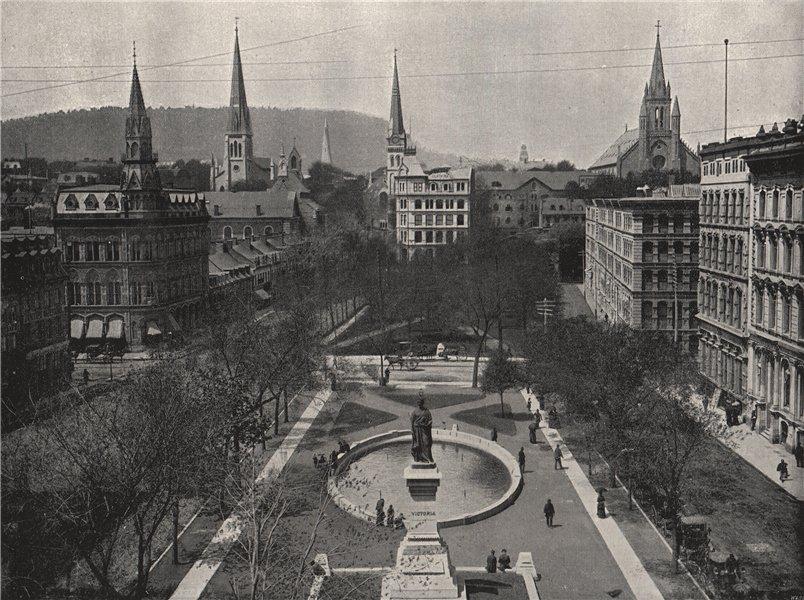 Associate Product MONTREAL. Victoria Square. Quebec 1895 old antique vintage print picture