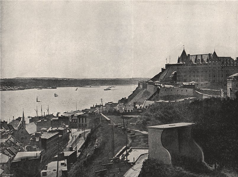 Associate Product QUEBEC. View showing the citadel and the St. Lawrence. Canada 1895 old print