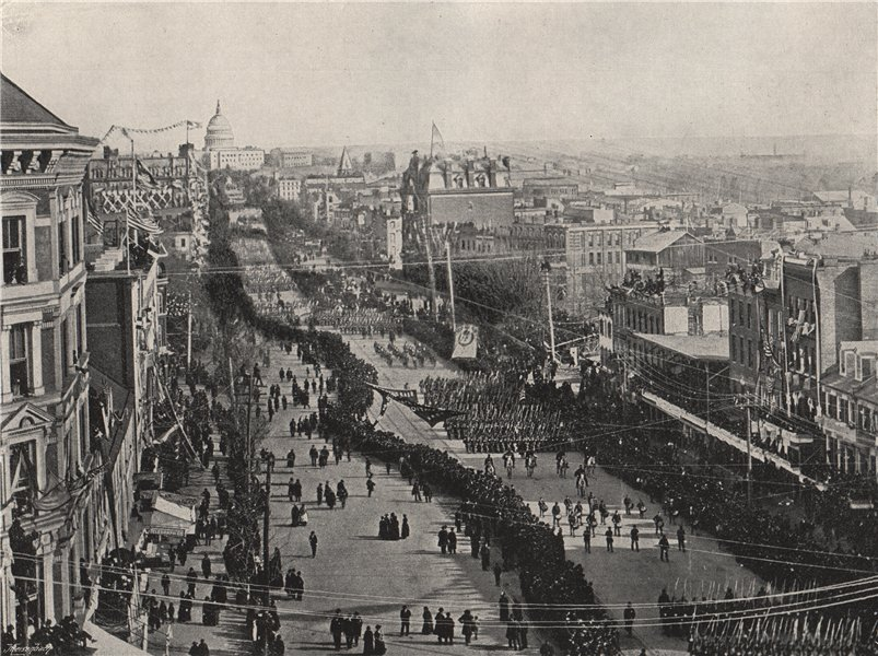Associate Product WASHINGTON. A fête day in the American capital. Washington DC 1895 old print