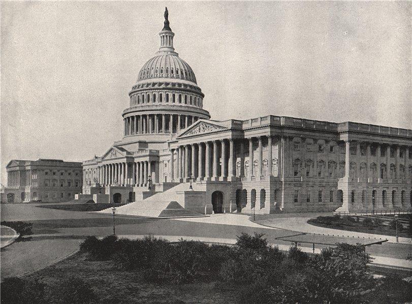 Associate Product WASHINGTON. The Capitol. Washington DC 1895 old antique vintage print picture