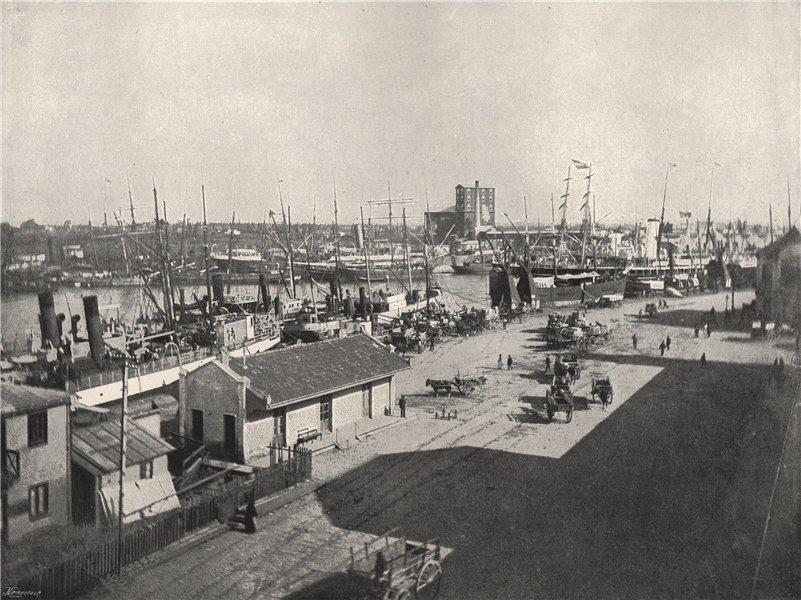 Associate Product BUENOS AIRES. La Boca. Argentina 1895 old antique vintage print picture