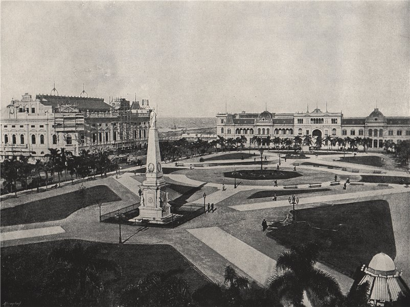 Associate Product BUENOS AIRES. The Plaza Victoria. Argentina 1895 old antique print picture