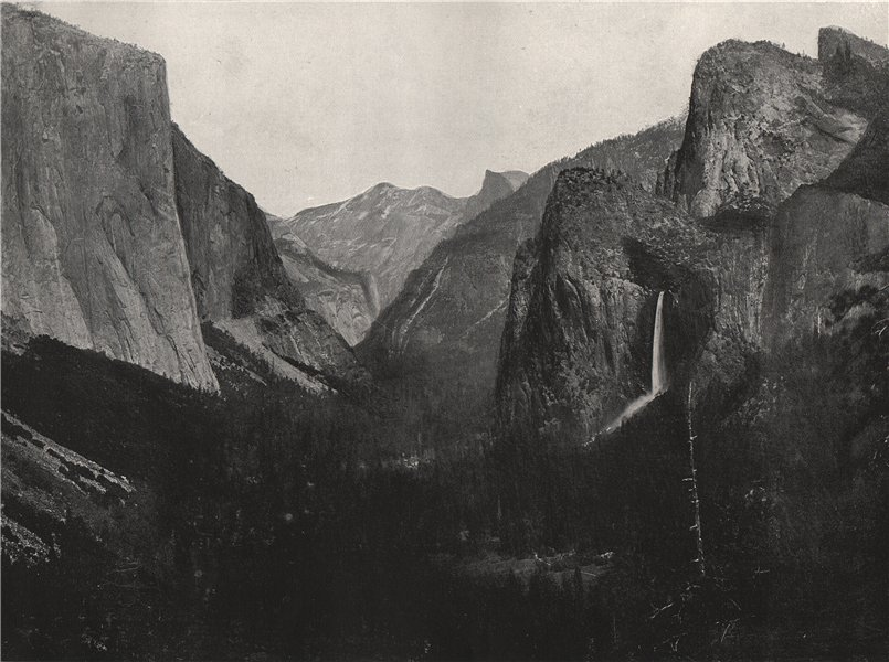 Associate Product YOSEMITE VALLEY. View from Artist's Point. California 1895 old antique print