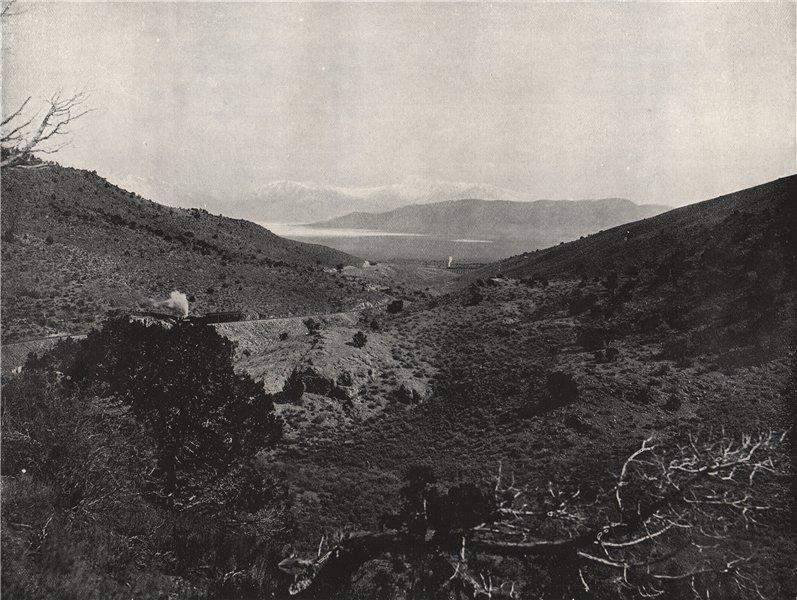 Associate Product SALT LAKE CITY. Utah Lake, from Circle Point. Utah 1895 old antique print