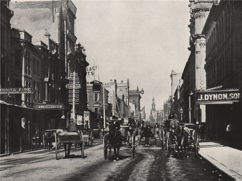 Associate Product SYDNEY. George Street. New South Wales 1895 old antique vintage print picture