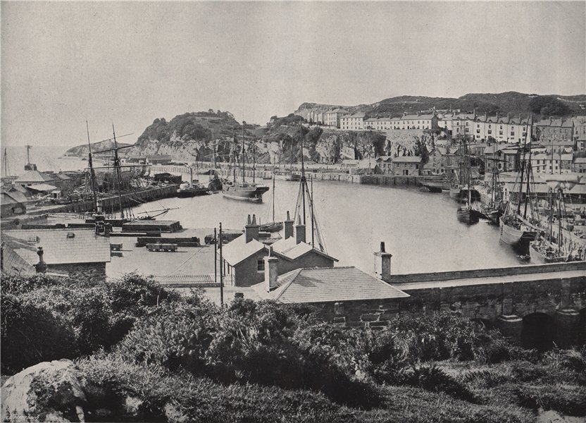 Associate Product PORTMADOC (PORTHMADOG) . The harbour and the town. Wales 1895 old print