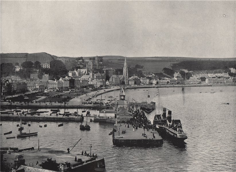 Associate Product ROTHESAY. The landing-stage and esplanade. Scotland 1895 old antique print