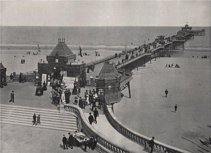 Associate Product SKEGNESS. The pier. Lincolnshire 1895 old antique vintage print picture