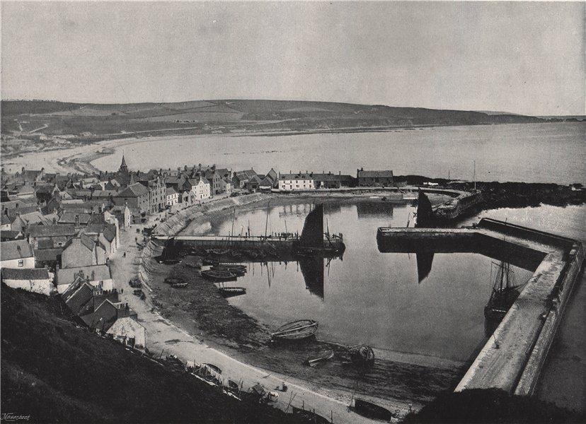 Associate Product STONEHAVEN. The harbour. Scotland 1895 old antique vintage print picture