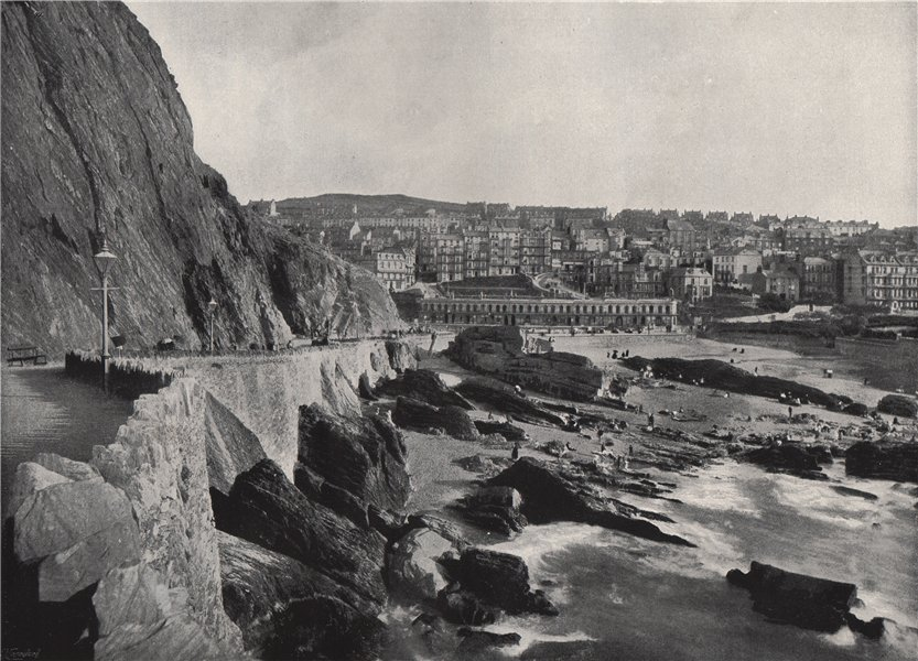 Associate Product ILFRACOMBE. General view, showing Capstone Parade. Devon 1895 old print