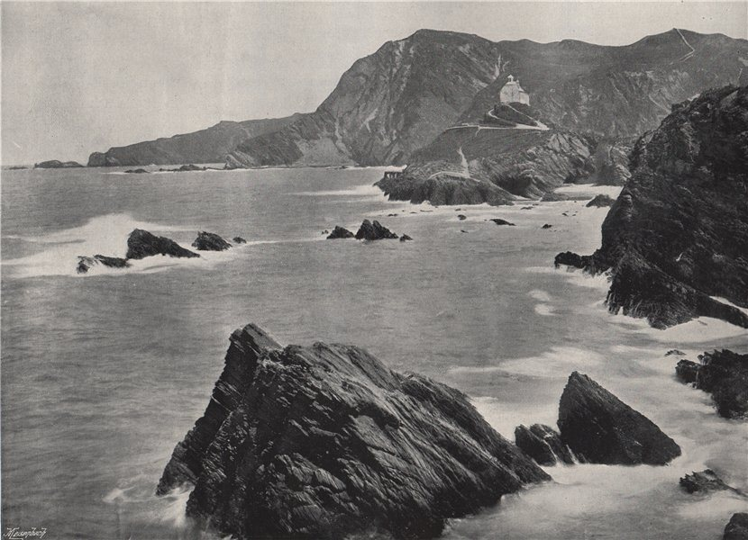 Associate Product ILFRACOMBE. Lantern Hill. Devon 1895 old antique vintage print picture