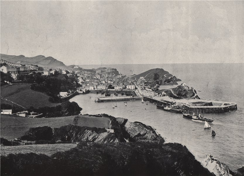 Associate Product ILFRACOMBE. Typical view, showing rugged coast. Devon 1895 old antique print
