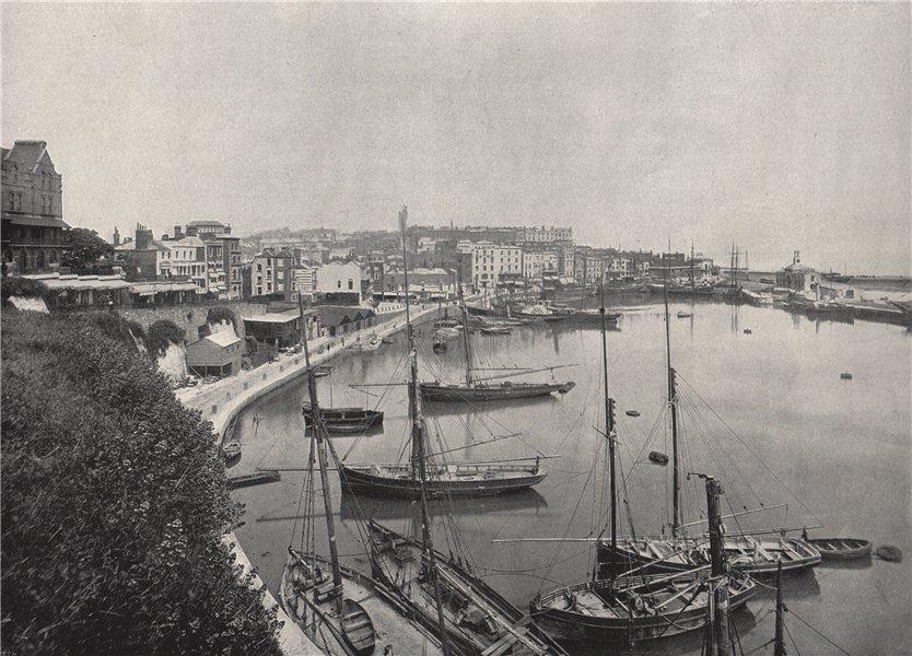 Associate Product RAMSGATE. The harbour. Kent 1895 old antique vintage print picture