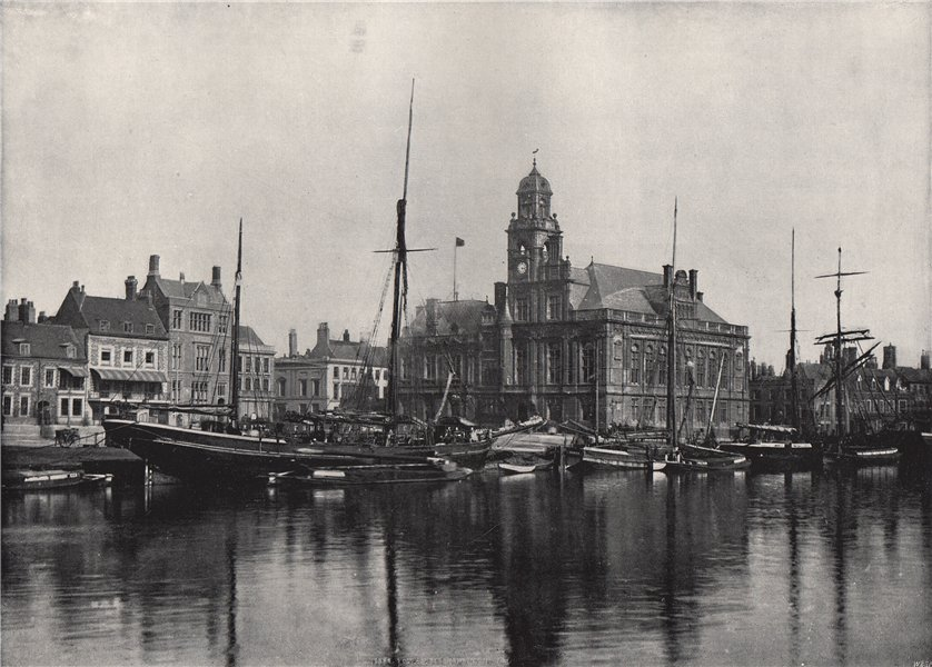 Associate Product GREAT YARMOUTH. The Town Hall. Norfolk 1895 old antique vintage print picture