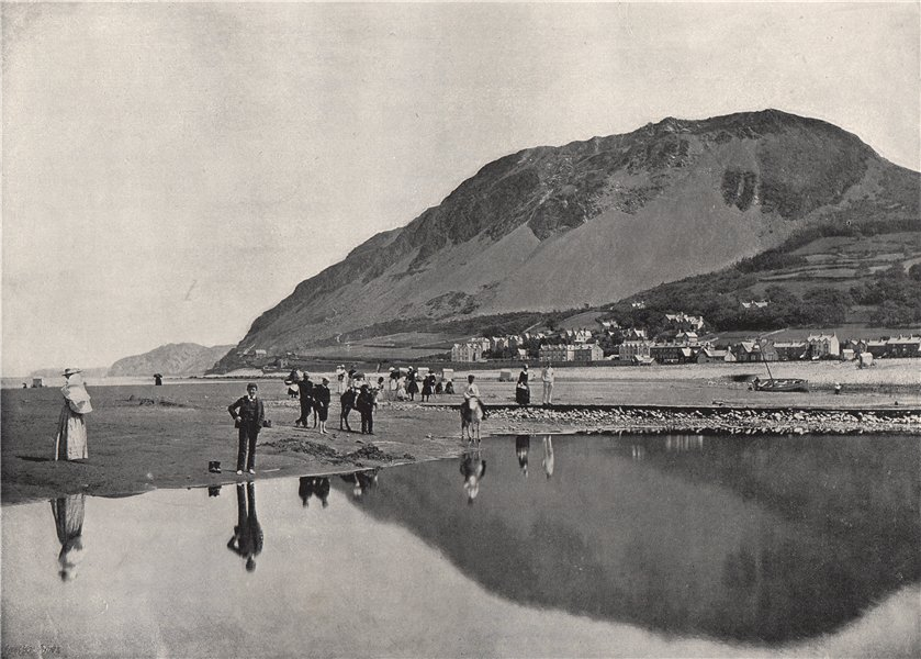 Associate Product LLANFAIRFECHAN. The village and Penmaenmawr Mountain. Wales 1895 old print