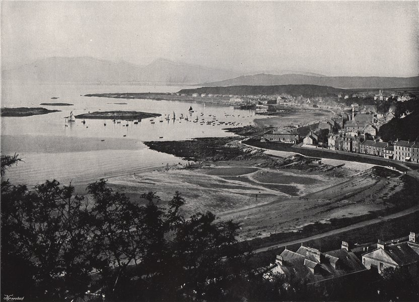Associate Product MILLPORT. From the east. Scotland 1895 old antique vintage print picture