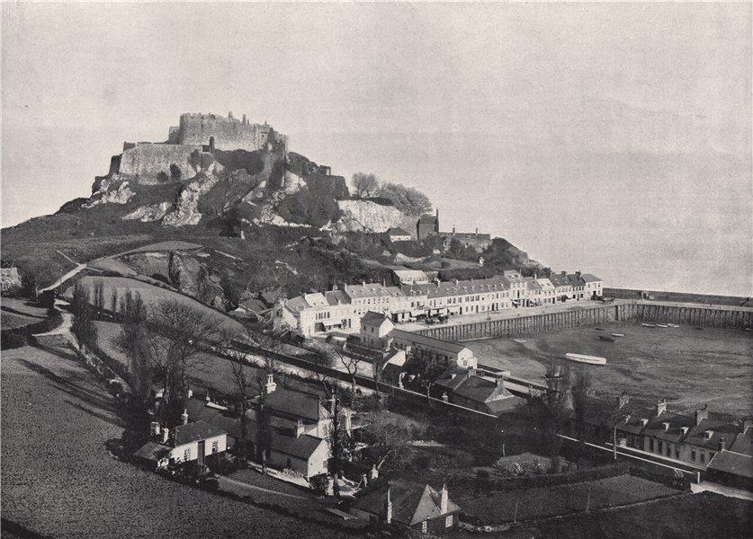 Associate Product JERSEY. Gorey, and Mont Orgueil Castle. Channel Islands 1895 old antique print