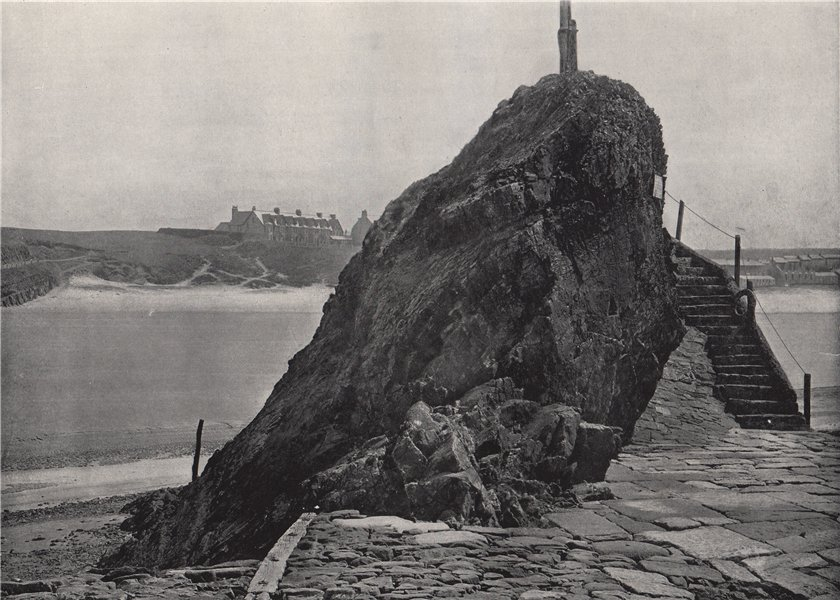 Associate Product BUDE. The Chapel Rock. Cornwall 1895 old antique vintage print picture