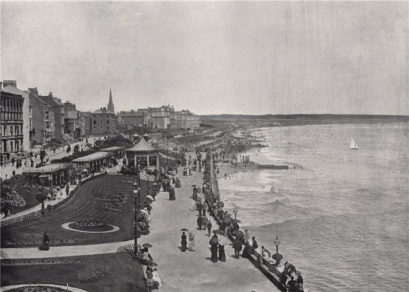 Associate Product BRIDLINGTON. Looking down the Prince's Parade. Yorkshire 1895 old print