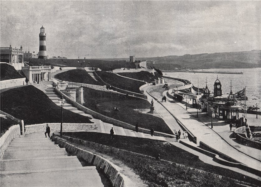 Associate Product PLYMOUTH. The Hoe. Devon 1895 old antique vintage print picture