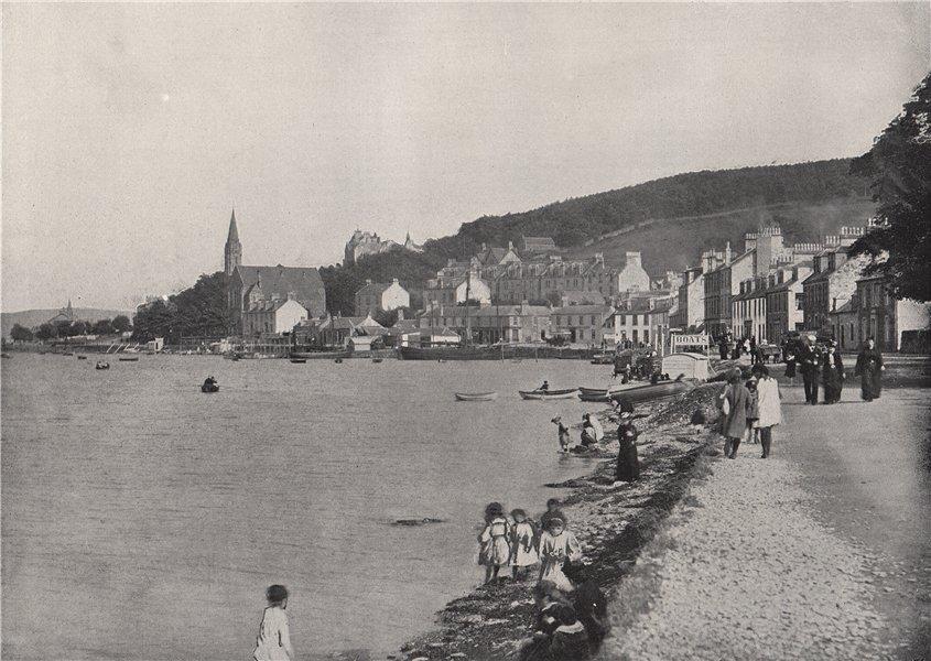 Associate Product PORT BANNATYNE. A pleasant walk. Scotland 1895 old antique print picture