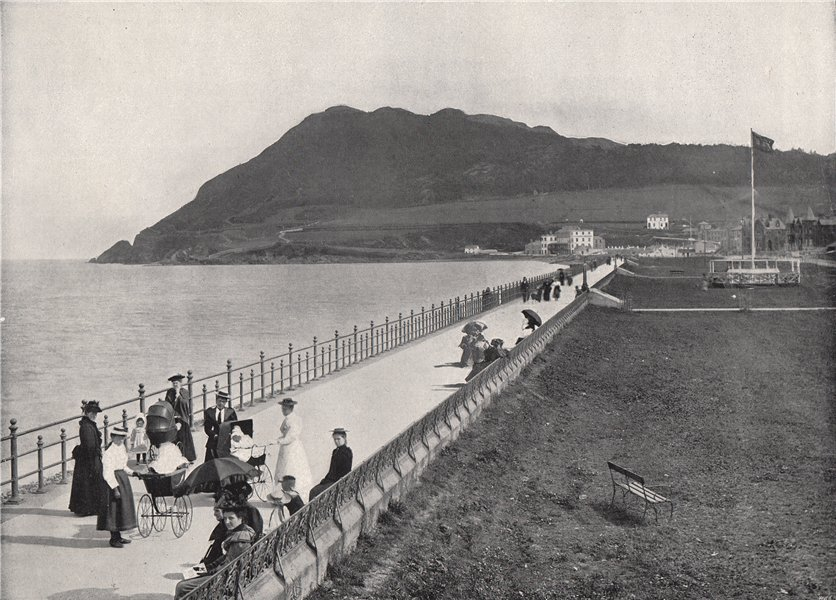 Associate Product BRAY. The promenade and Bray Head. County Wicklow, Ireland 1895 old print