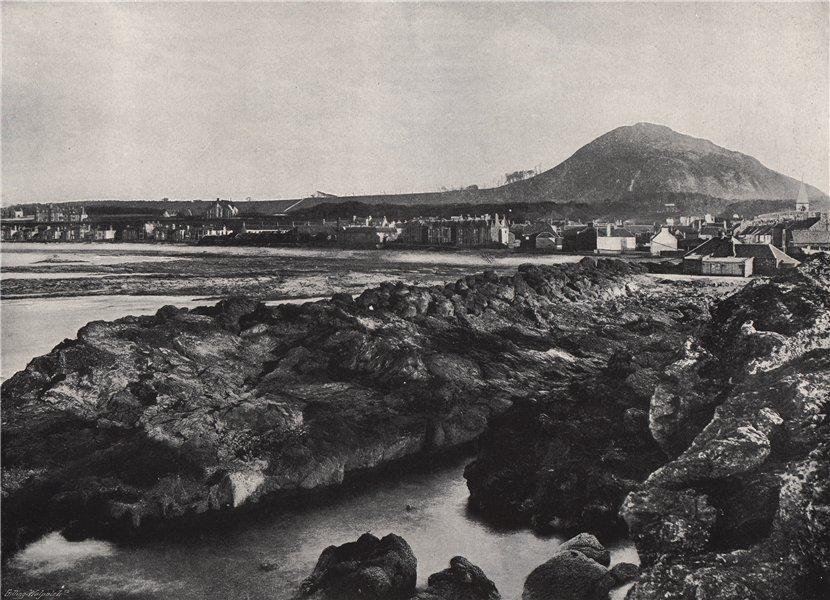 NORTH BERWICK. From the rocks, showing North Berwick Law. Scotland 1895 print