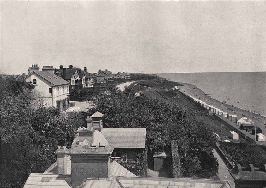 Associate Product FELIXSTOWE. From the Bath Hotel. Suffolk 1895 old antique print picture