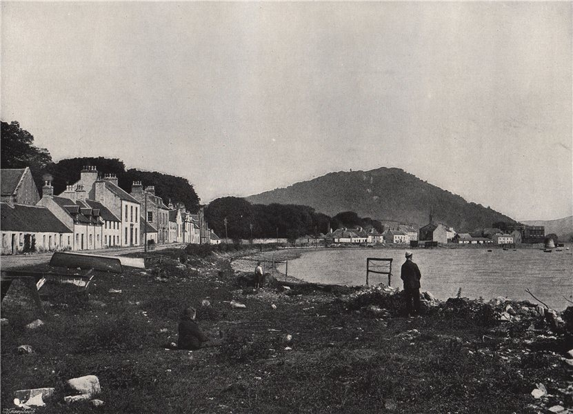 Associate Product INVERARAY. The town, and the Hill of Duniquoich. Scotland 1895 old print
